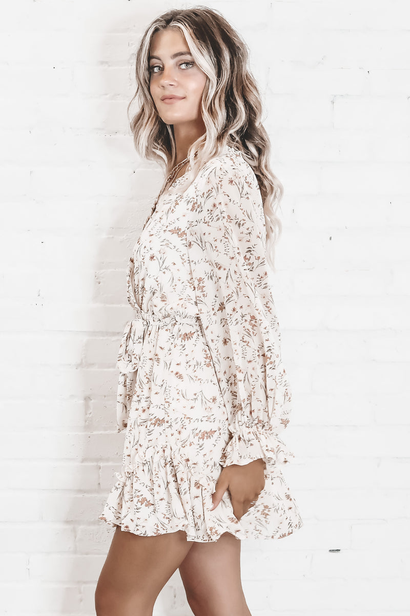 All In Ivory Floral Dress