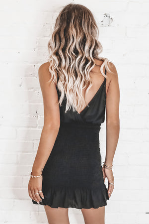 Little White Lie Black Mini Dress