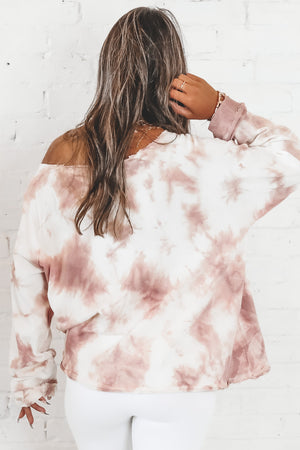 Waste Your Time With Me Mauve Tie Dye Top