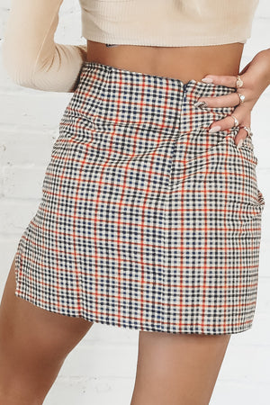 MOTEL Sheny Mini Skirt In Country Check