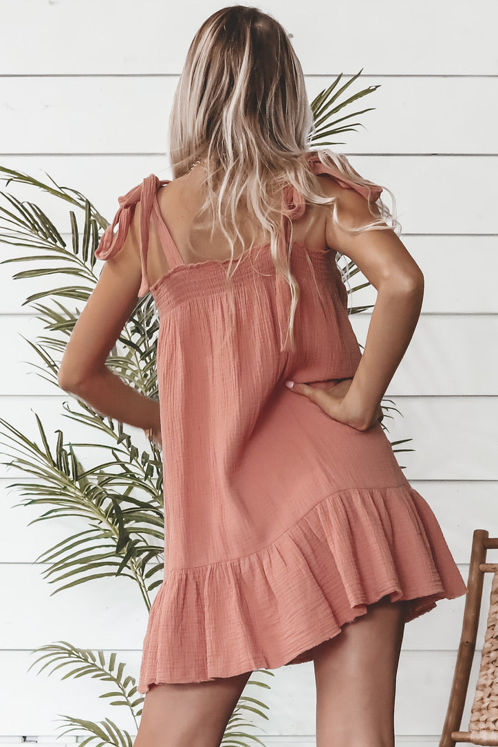 MINKPINK Fable Blush Swing Dress