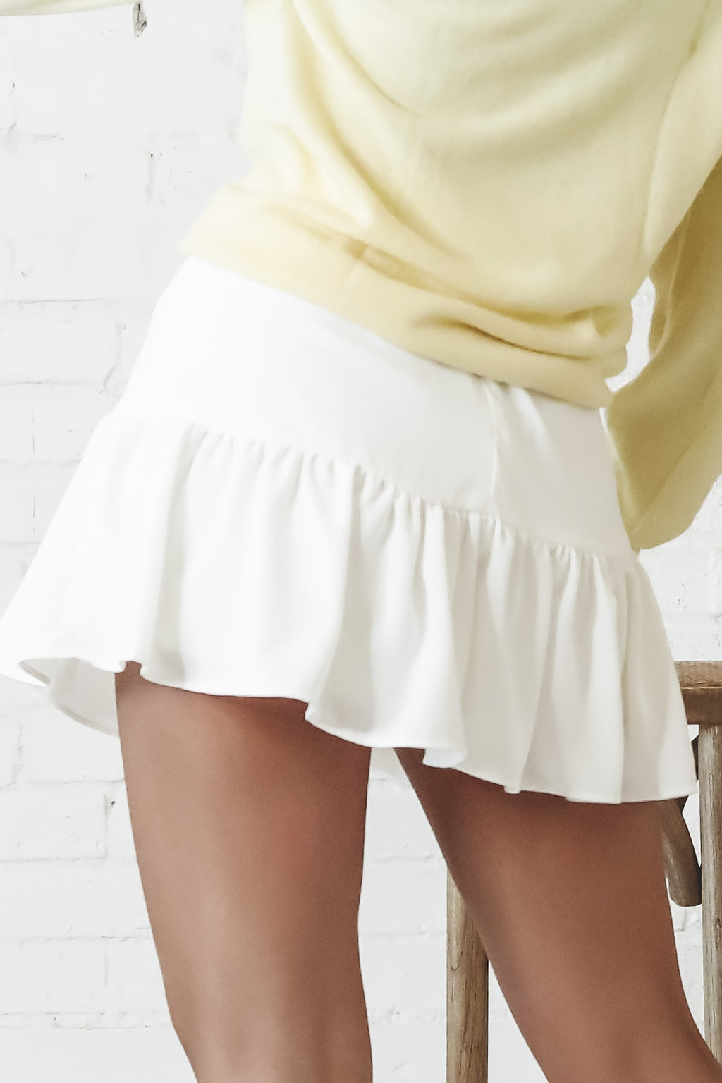 Wine On Me White Mini Skort