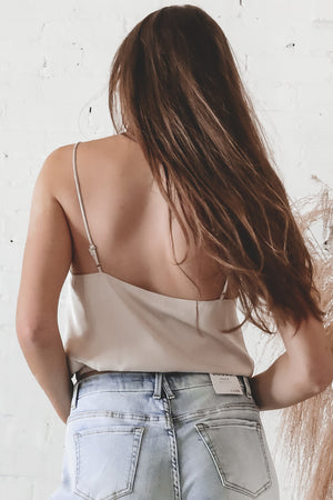 Still Up Stone Silky Crop Top