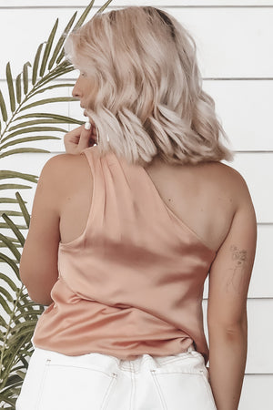 Sold Out Show Satin One Shoulder Top