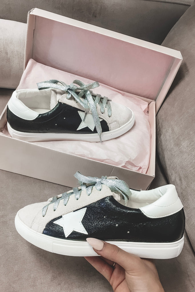 Star Player Lace Up Sneakers