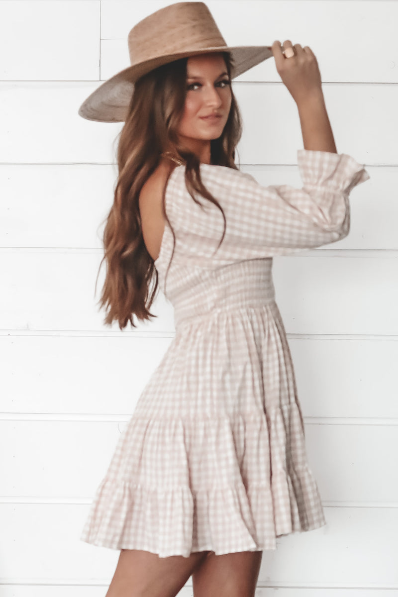 Picnic Party Pink Plaid Babydoll Dress