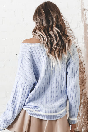 So Polite Chambray Knit Sweater
