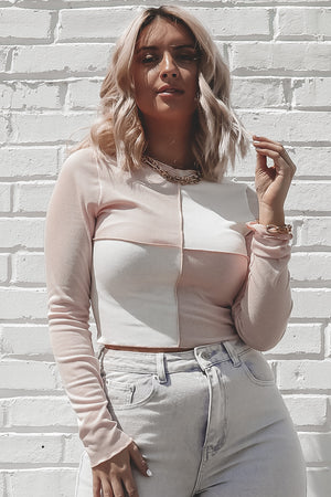 Cool Girl Vibes Colorblock Top