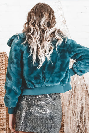 BAND OF GYPSIES Je T'Adore Hunter Crop Jacket