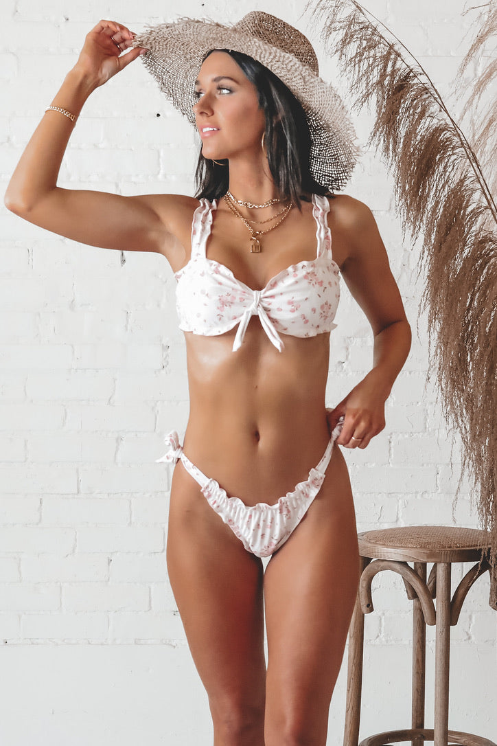 Rough Waters Ruffled Bikini Top