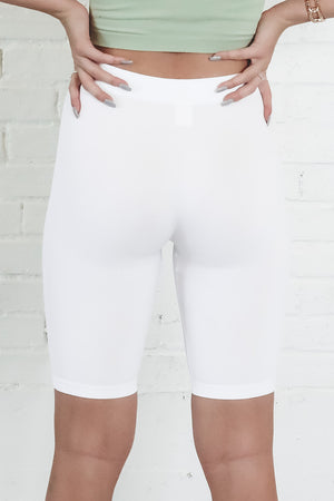Out Of Office Ribbed Biker Shorts