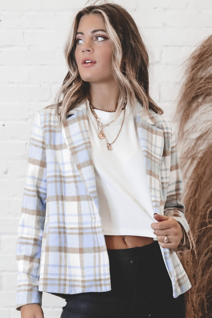 SAGE THE LABEL Benjy Plaid Jacket