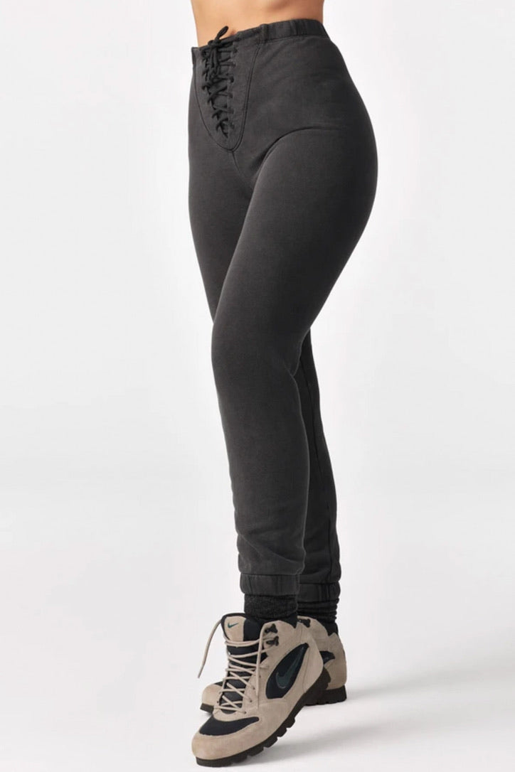 JOAH BROWN Washed Lace Up Joggers