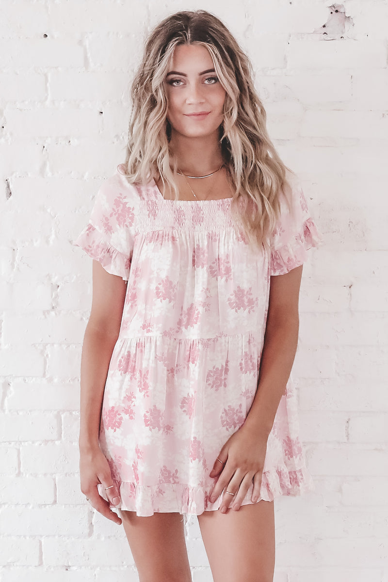 Oh Girl Pink Babydoll Dress