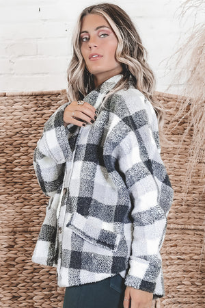 Weekend Away Black And White Plaid Jacket