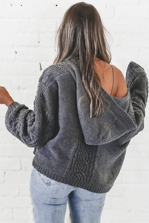 Iced Mocha Charcoal Knitted Sweater