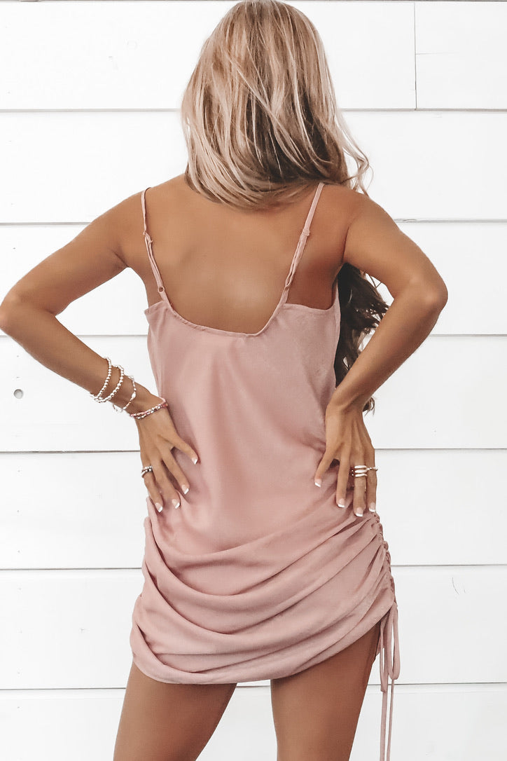 A Little Shy Satin Mini Dress