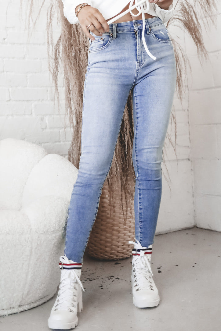 PISTOLA Aline High Rise Skinny - Luxury