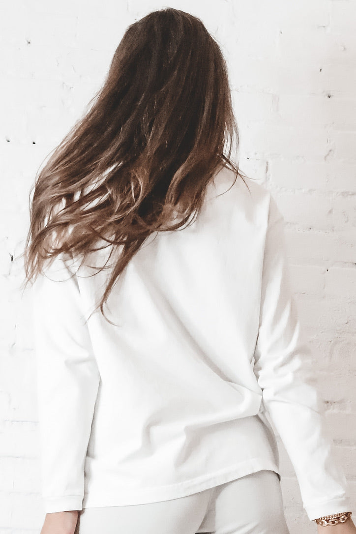 JOAH BROWN Classic Off White Oversized Long Sleeve