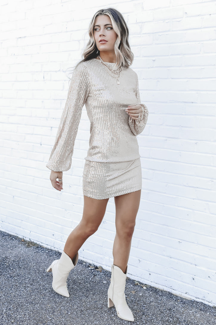 Gimme Glam Sequin Bodycon Dress