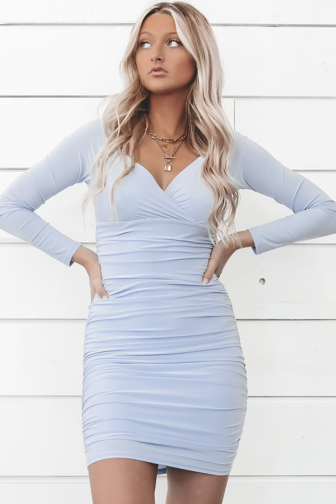 Not So Blue Without You Long Sleeve Dress