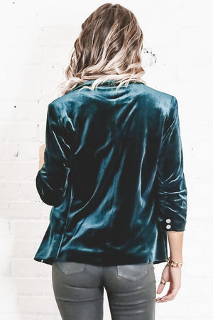 Emerald City Velvet Blazer