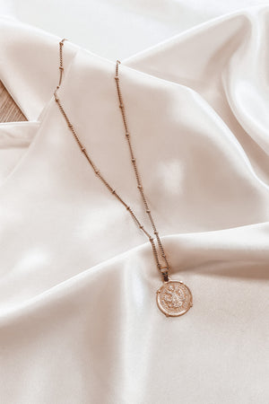 SAHIRA Gold Emperor Coin Necklace