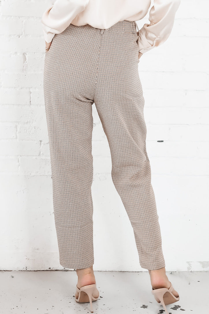 All We Ever Knew Beige Plaid Pants