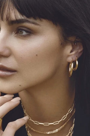 SAHIRA Emmy Gold Hoops - 20mm