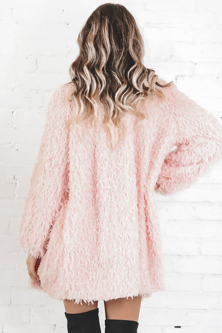 Find Me Pink Flamingo Furry Coat