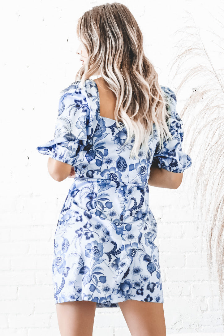 Floral With Benefits Blue Floral Dress