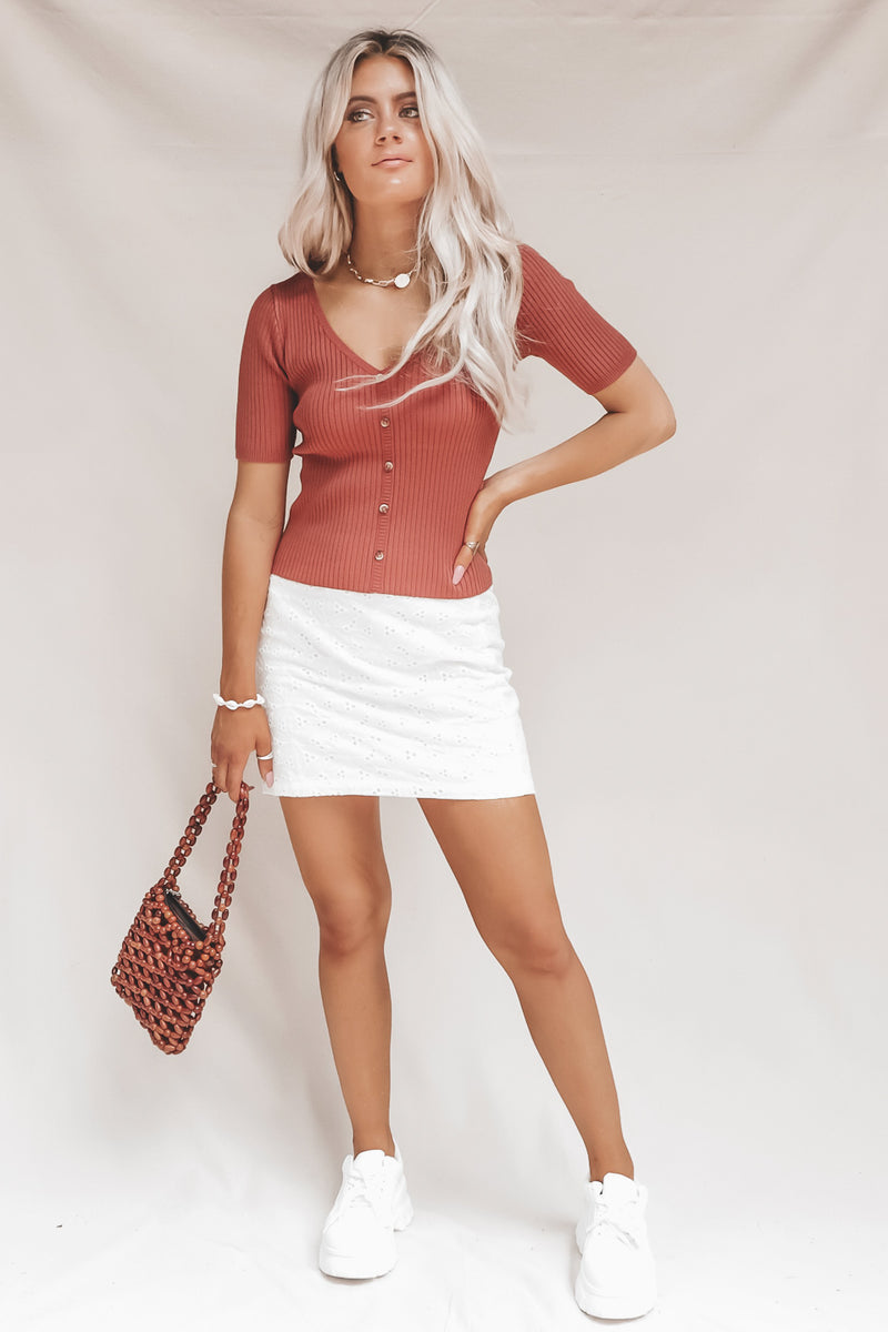 Carolina Rust Sweater Top