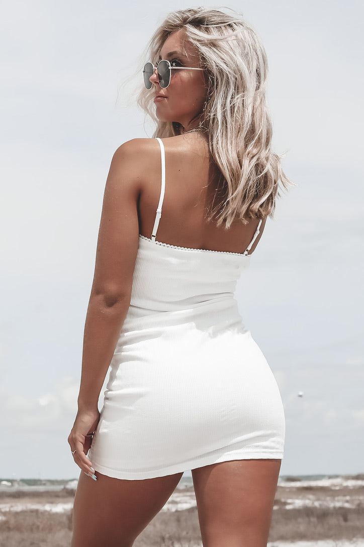 Call Back White Mini Dress