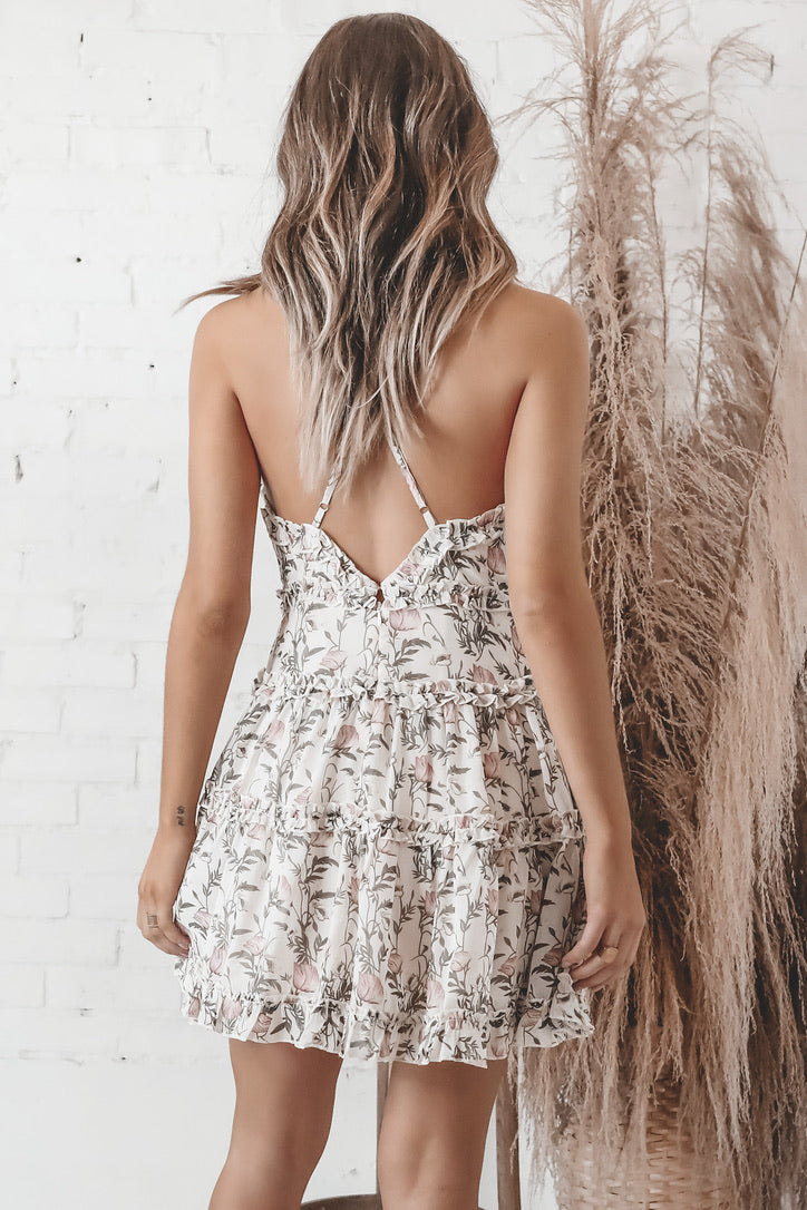 Flowing Through My Mind Floral Dress