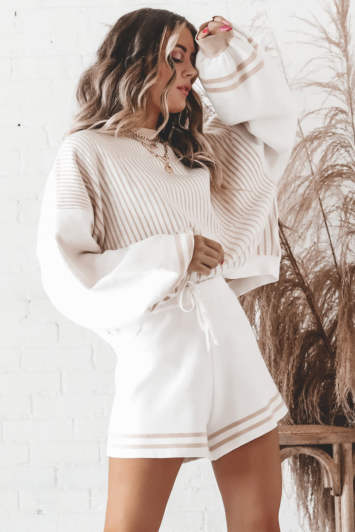 Sweet To Me Striped Sweater Set