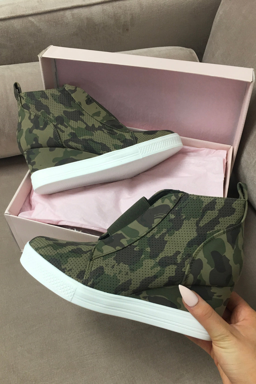 Hunt the Streets Camo Wedge Sneaker