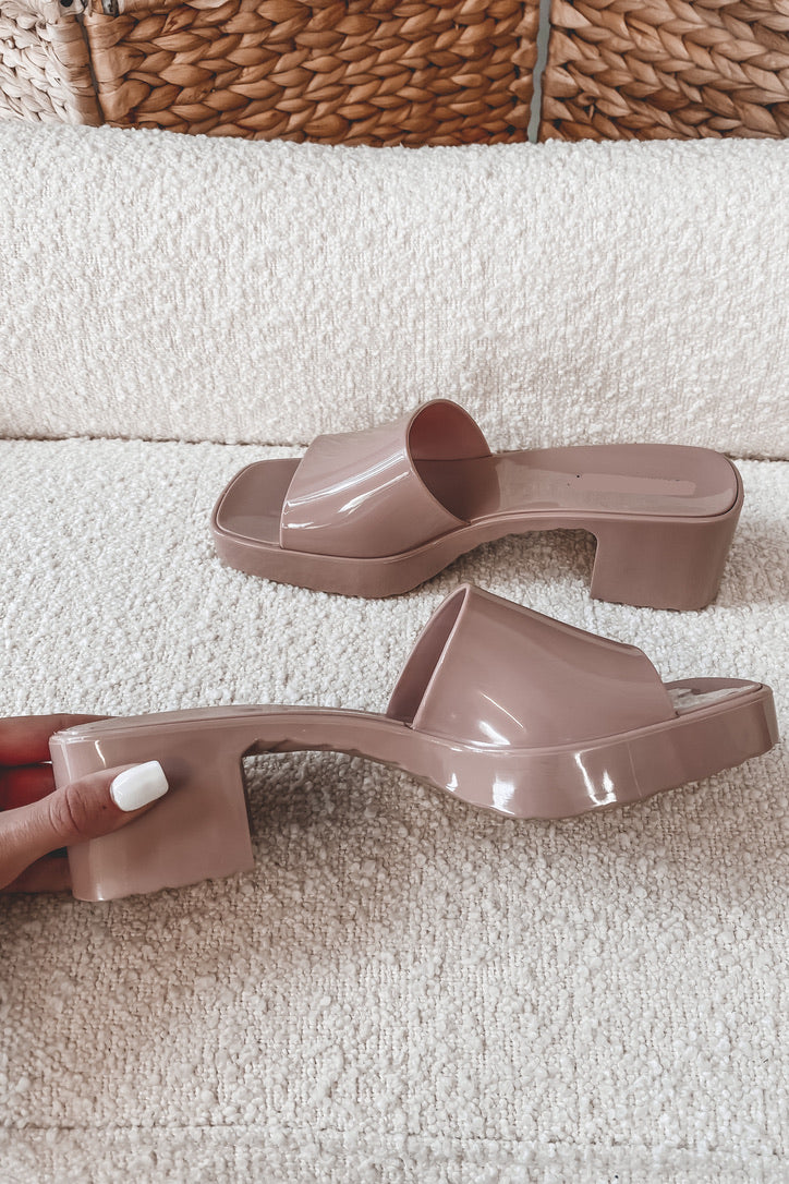 Girrrrl Where'd You Get Those Nude Rubber Slides