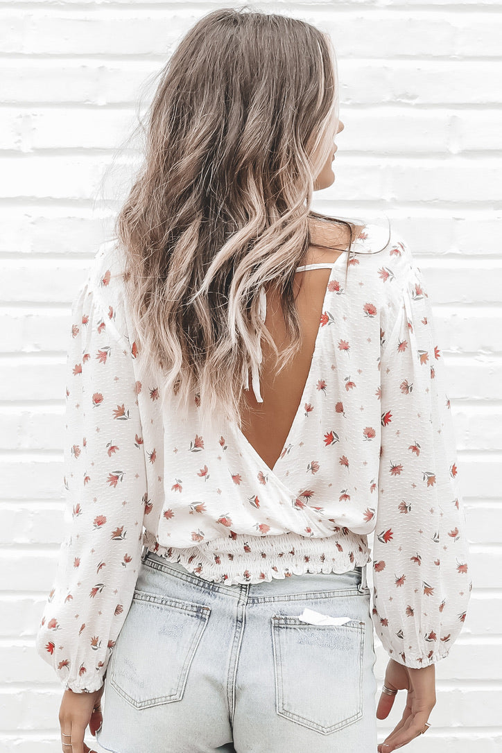 Fall For Me Floral V Neck Top