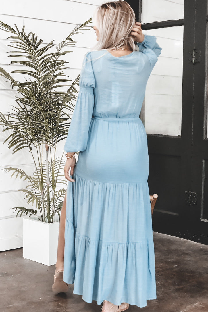 MINKPINK Anira Blue Maxi Dress