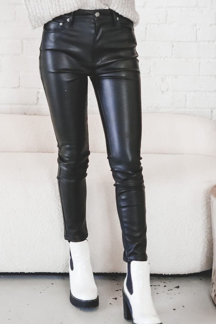 PISTOLA Aline Vegan Leather High Rise Skinny