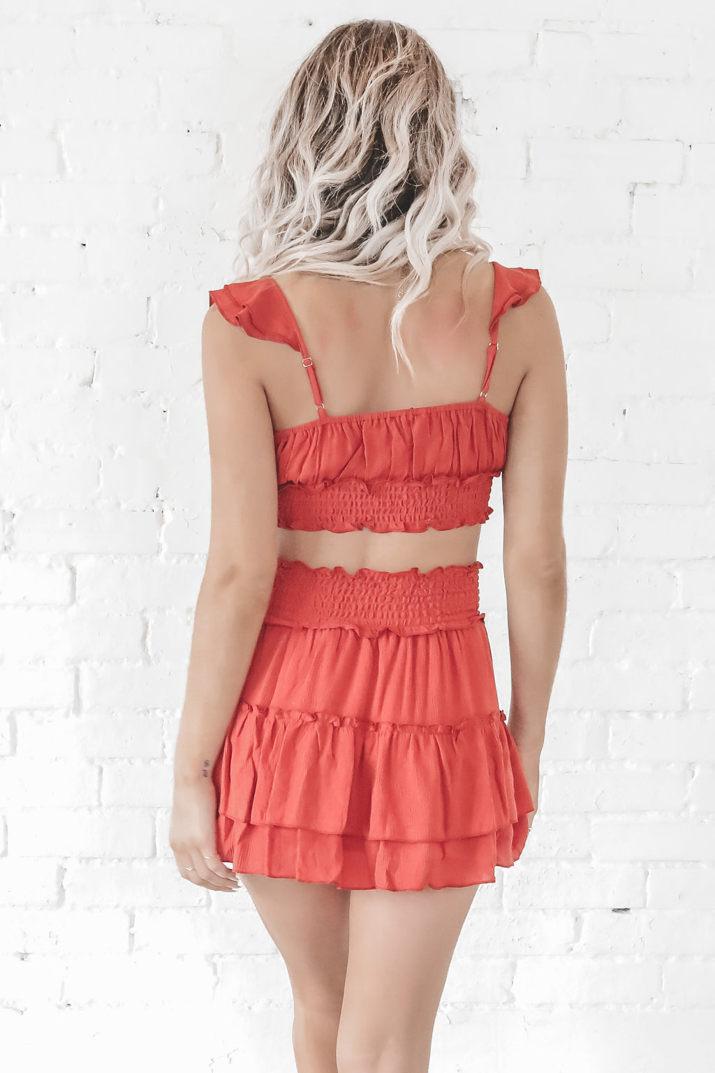 Beach Party Red Two Piece Set