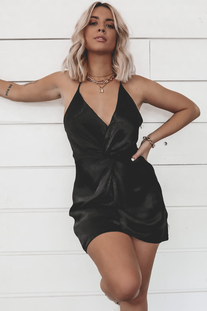 It's A Date Black Mini Dress