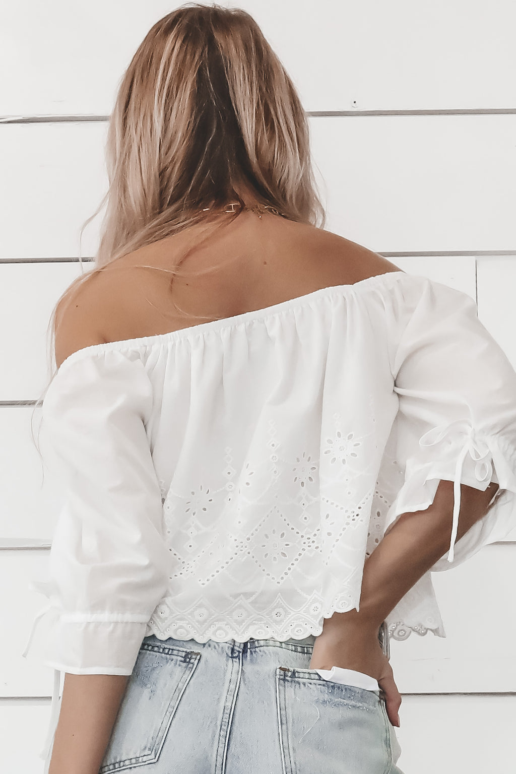 MINKPINK Psalms Puff Sleeve White Blouse