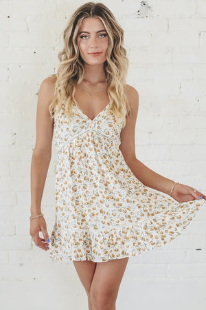 You're My Sunshine Floral Mini Dress