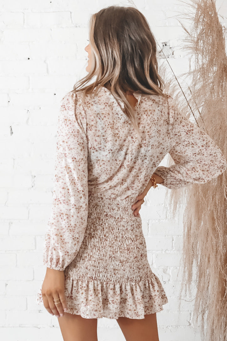 Stop And Stare Smocked Floral Dress