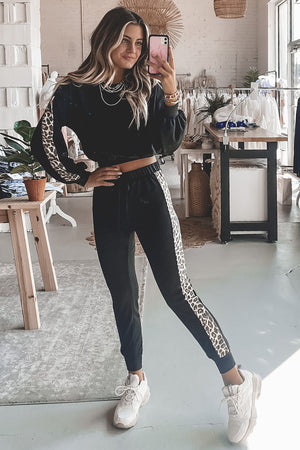Catch Me If You Can Black And Leopard Print Set