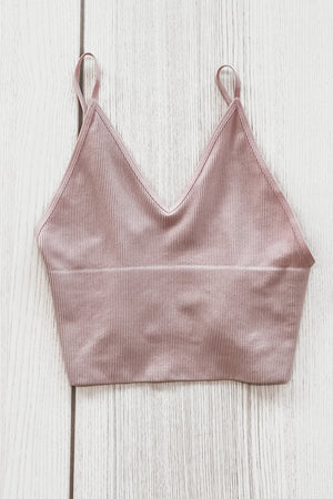 What I'm Looking For Ribbed Cropped Cami