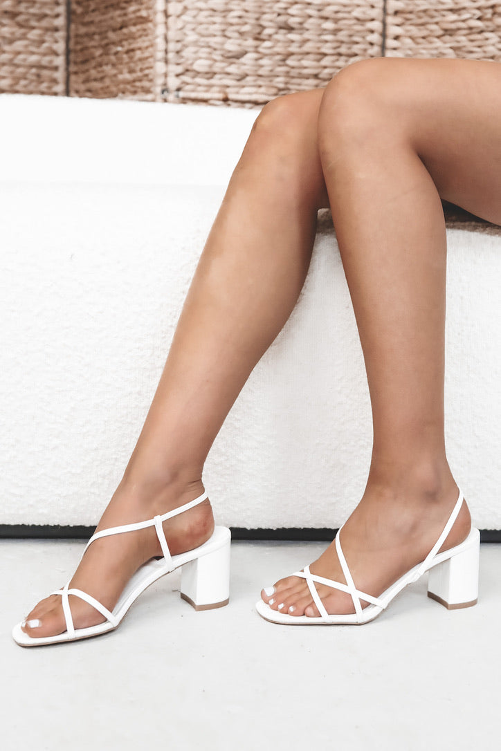 BILLINI Yarra White Strappy Sandals