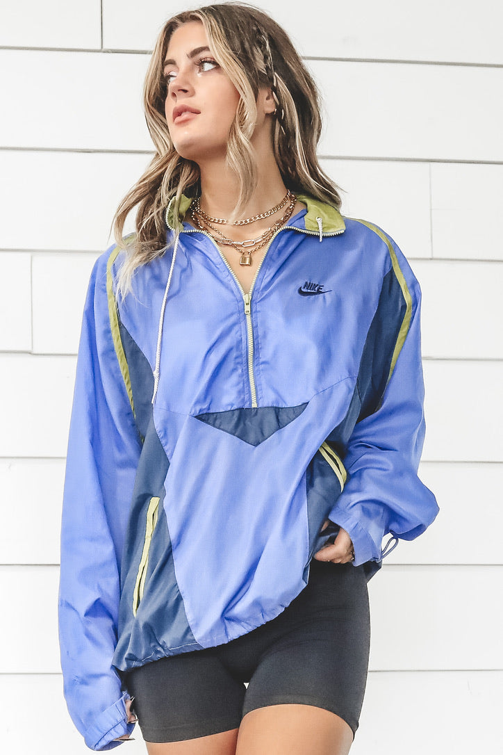 VINTAGE 90's Nike Blue Zip Up Windbreaker 173