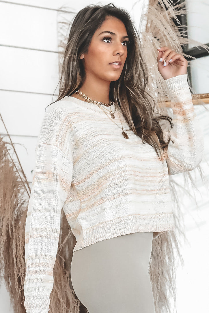 The Bigger Picture Pastel Sweater Top